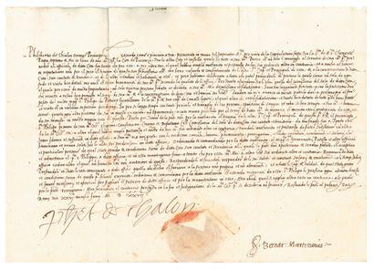 CHALON Philibert de (1502-1530) prince d'Orange, capitaine des troupes impériales.