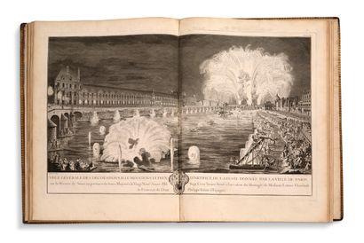 [FÊTES ROYALES] - [PARIS] Description des festes données par la ville de Paris à...