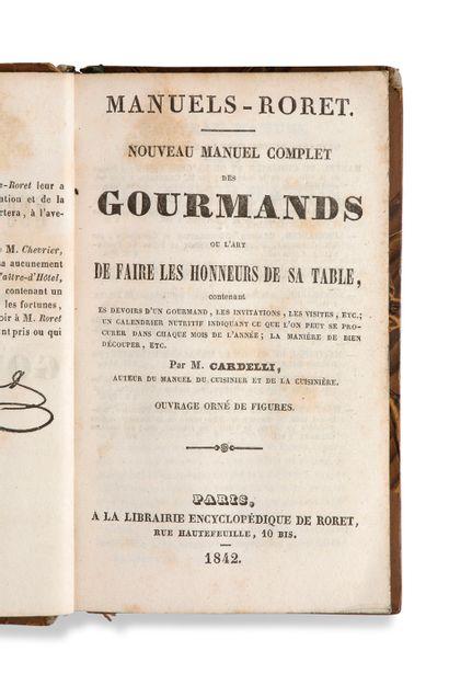 • [GASTRONOMIE]. CARDELLI M. Nouveau manuel...