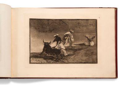 GOYA Y LUCIENTES Francisco José de (1746-1828) • La Tauromachie. Recueil de quarante...