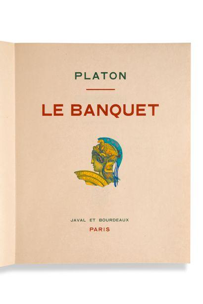 LAURENT Sébastien (1887-1973) - [PLATON] Le Banquet Paris, Javal et Bourdeaux, 1928....