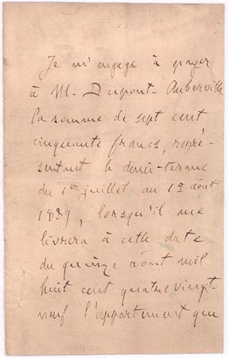 ZOLA emile (1840-1902) L.A.S. «Emile Zola», [Paris], 6 décembre 1888, à Gaston DUPONTAUBERVILLE...