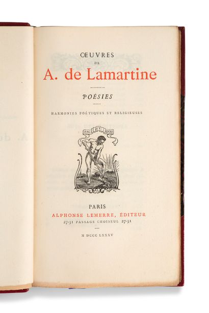 LAMARTINE Alphonse de (1790-1869)