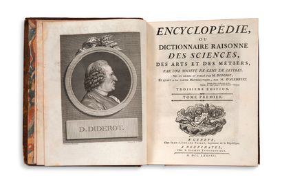 DIDEROT Denis (1713-1784) - ALEMBERT Jean d' (1717-1783) Encyclopédie, ou Dictionnaire...
