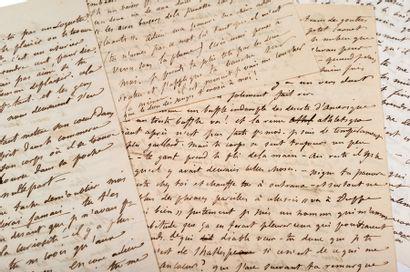 FLAUBERT Gustave (1821-1880) Exceptionnelle réunion de quatre L.A. à sa maîtresse...