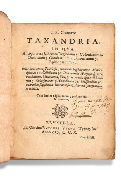 GRAMAYE Jean-Baptiste (1579-1635)