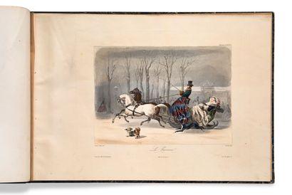• [MODE]. [SECOND EMPIRE]. [COMPTE-CALIX, François Claudius (1813-1880)] Six Tableaux...