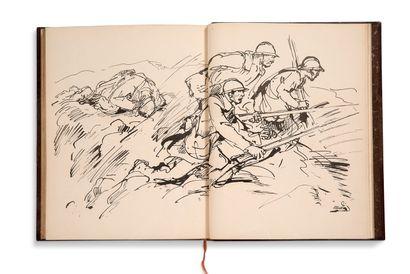 NAUDIN Bernard (1876-1946) - GÉRALDY Paul (1885-1983) La Guerre, Madame.... Illustrée...