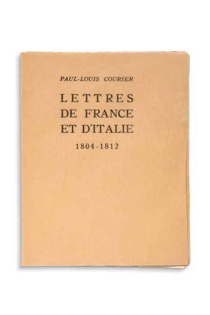 COURIER Paul-Louis (1772-1825)
