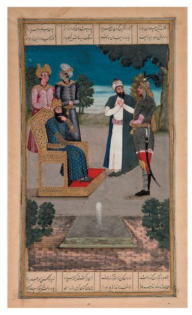 • [MANUSCRIT ENLUMINÉ]. Page de Shahnameh,...