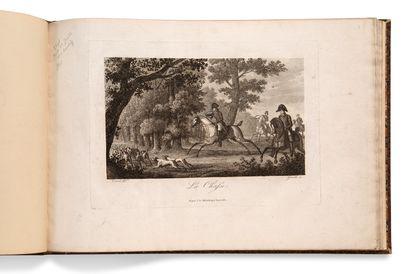 • [CHASSE]. VERNET Carle (1758-1836) [Chasse au cerf]. [Paris, vve Turgis, vers...