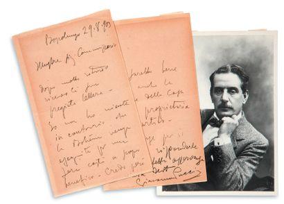 PUCCINI Giacomo (1858-1924) compositeur.