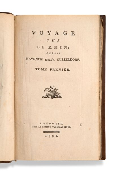 • [ALLEMAGNE]. [LANG Joseph Gregor (1755-1834)] Voyage sur le Rhin, depuis Mayence...