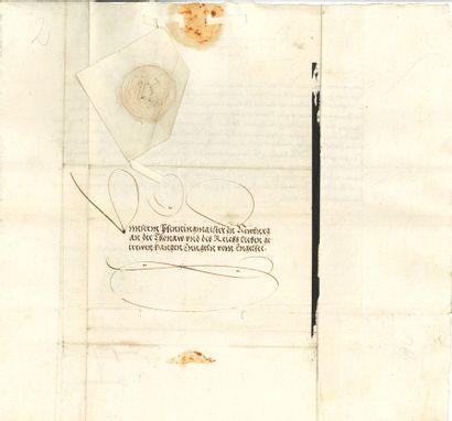 CHARLES QUINT (1500-1558) Empereur et Roi d'Espagne. 2 L.S., 1551-1552 ; contreseings...