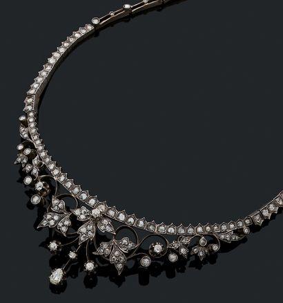 ELÉMENT DE DIADÈME Diamants taille ancienne...