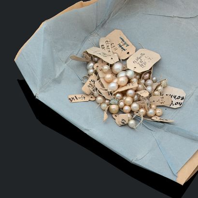 PERLES FINES Lot de perles fines, non testées...