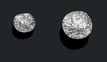 DIAMANTS SUR PAPIER Deux diamants taille...
