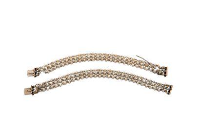 Paire de bracelets perles fines Paire de bracelets perles fines  Petites perles fines,...