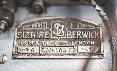 1913 SIZAIRE-BERWICK CARROSSERIE LABOURDETTE Etat de préservation exceptionnelle...