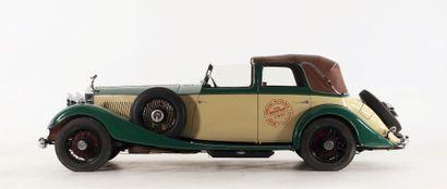 1934 ROLLS-ROYCE PHANTOM II CONTINENTAL CABRIOLET 3-POSITIONS FERNANDEZ & DARRIN