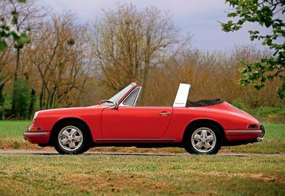 1967 PORSCHE 911 2.0L S TARGA « SOFT WINDOW » Matching numbers Ex Sonauto et historique...