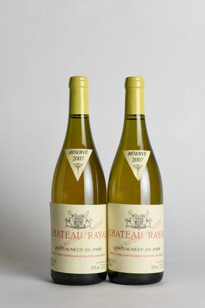 2 B CHÂTEAUNEUF DU PAPE Blanc - 2007 - Château...