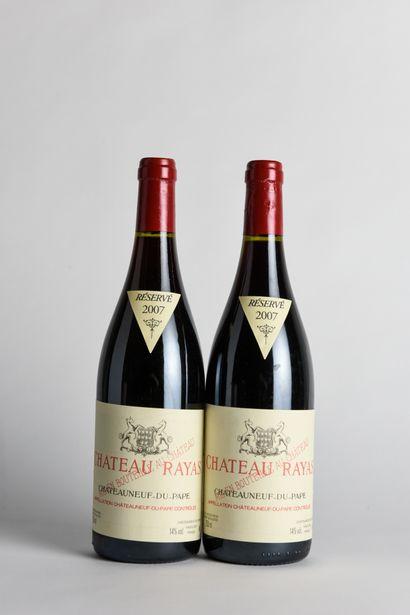 2 B CHÂTEAUNEUF DU PAPE Rouge - 2007 - Château...