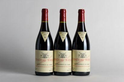 3 B CHÂTEAUNEUF DU PAPE Rouge - 2007 - Château...