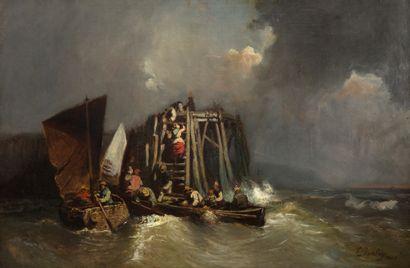 EUGÈNE ISABEY<br/>PARIS, 1804 - 1886, MONTÉVRAIN
