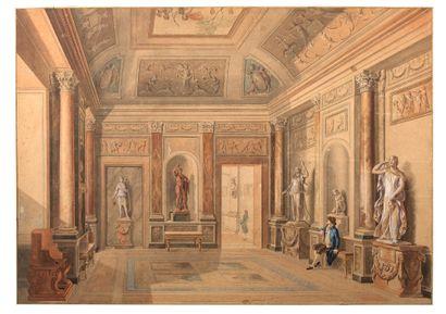 ATTRIBUÉ À PIERRE FONTAINE<br/>PONTOISE, 1762 - 1853, PARIS