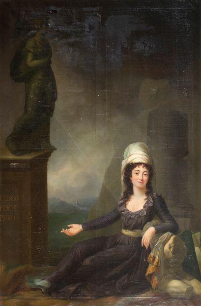 ÉCOLE FRANÇAISE, VERS 1790<br/>ENTOURAGE DE MARIE-VICTOIRE LEMOINE