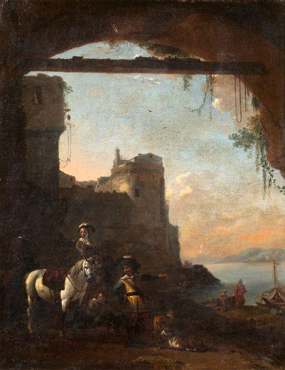ATTRIBUÉ À NICOLAES PIETERSZ BERCHEM HAARLEM, 1620/1683, AMSTERDAM