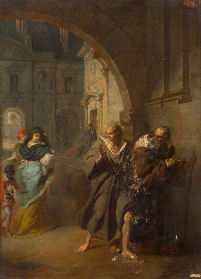 ÉCOLE FRANÇAISE VERS 1770/1780<br/>Les oies de frère Philippe