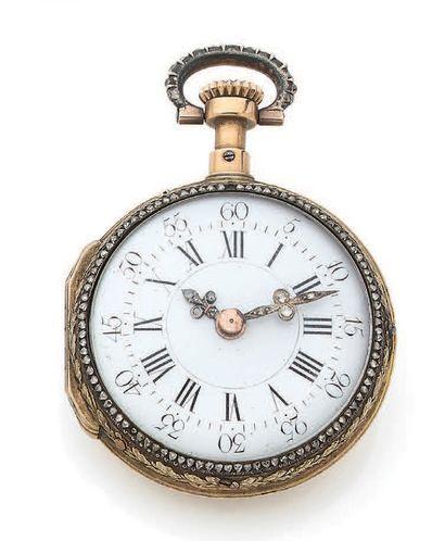 ANONYME Fin XVIIIe siècle Montre en or avec mouvement transformé non d'origine Boîtier...