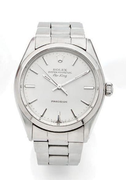 ROLEX Air King Réf. 5500 No. 7302826 Montre bracelet en acier Boîtier rond, couronne...