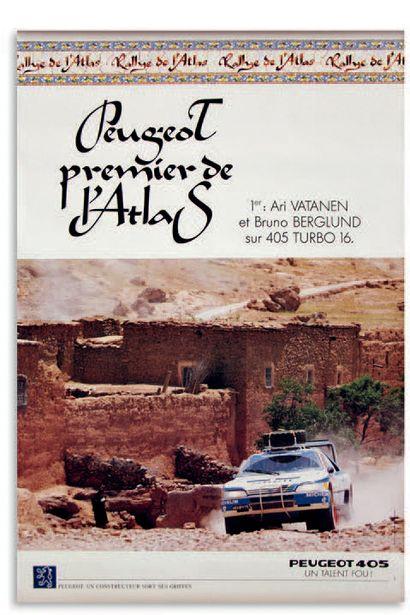 PEUGEOT 405 TURBO 16 Lot de 8 affiches publicitaires Bon état général 5 affiches...