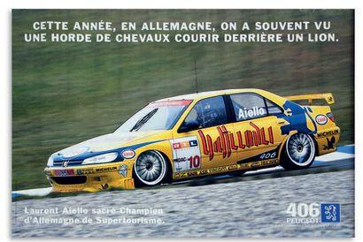 SUPERPRODUCTION SUPERTOURISME Lot de 6 affiches représentant les Peugeot 505, 405...