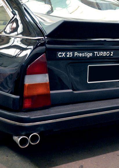 1988 Citroën CX Prestige séparation chauffeur ex-Mairie de Paris Voiture utilisée...