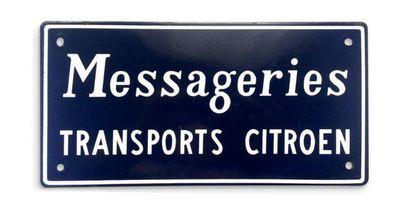 «MESSAGERIE TRANSPORTS CITROËN» Circa 1950...