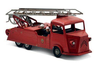 JRD Citroën HY camion de pompier en tôle Bel état d'origine 47 X 16 X 22 cm