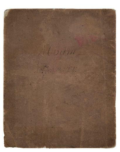 ALBUM ANNAMITE, 1897 Recueil de 21 aquarelles....