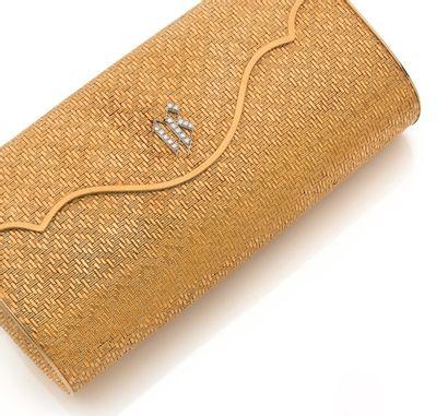 SAC DU SOIR Or 18k (750), diamants ronds...