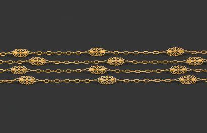 SAUTOIR Or jaune 18k (750) Long. : 150 cm...