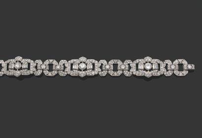BRACELET «DIAMANTS» Diamants taille ancienne...