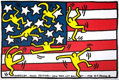 KEITH HARING (D'APRÈS) (1958 - 1990)