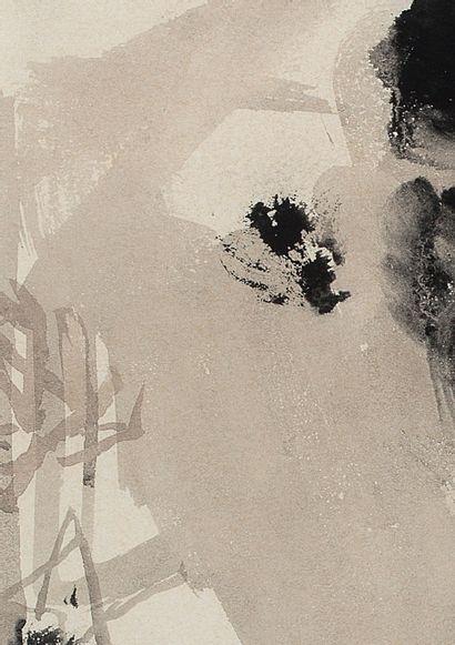 CHU Teh-Chun (1920-2014) N°56, 1961 Encre de Chine sur papier, signée en bas à droite...