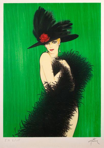 RENÉ GRUAU (1909-2004) Danseuse Lithographie, numérotée EA 2/12 en bas à gauche,...