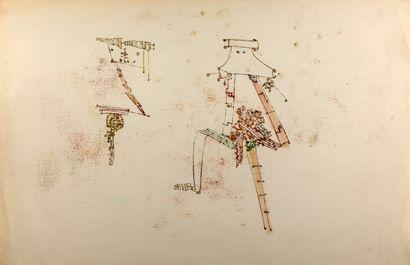 FREDERICK SOMMER (1905-1999) Untitled, 1950 Encre sur papier, signé et daté au dos...