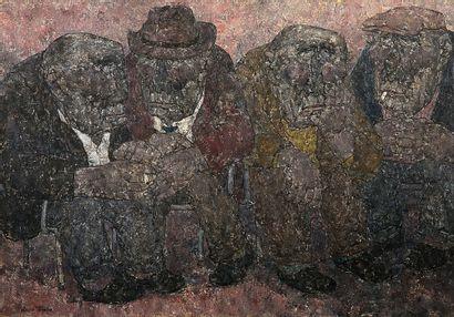 AKIRA TANAKA (1918-1982) Après-midi, 1969 Huile sur toile, signée en bas à gauche,...
