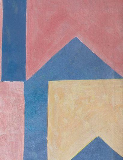 ALFREDO VOLPI (1896 - 1988) Bandeirinhas, circa 1958 Tempera sur toile Tempera on...